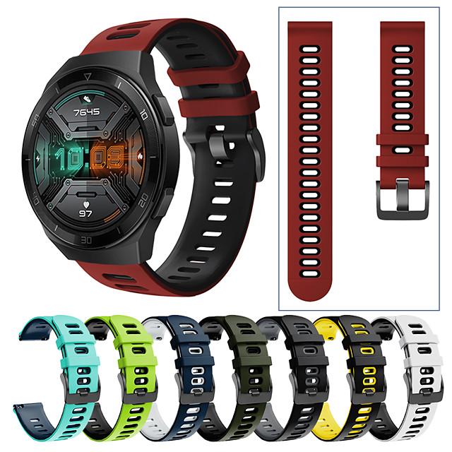 спортивный силиконовый ремешок для часов ремешок для часов huawei gt 2e / gt2 46mm / gt 2 42mm / gt active / честные волшебные часы 2 46mm / волшебные часы 2 42mm / часы 2 про сменный браслет браслет