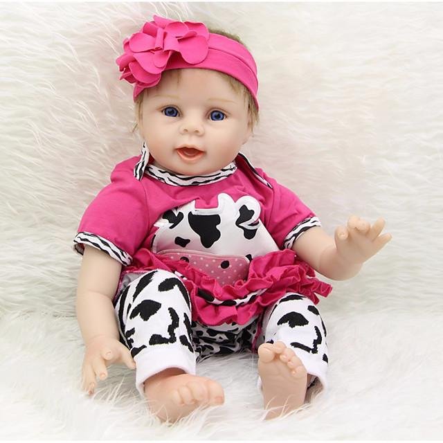 Vêtements de poupées bébé Reborn Accessoires pour poupées Reborn Tissu en Coton pour poupée Reborn 22-24 pouces Ne pas inclure la poupée Reborn Cow Doux Pur fait main Fille 4 pcs