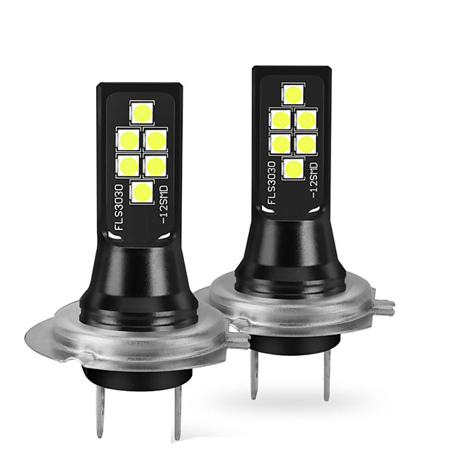 otolampara 2pcs H7 سيارة لمبات الضوء 12 W SMD 3030 1400 lm 12 LED ضوء إشارة اللف من أجل عالمي جميع الموديلات 2018/2017/2019