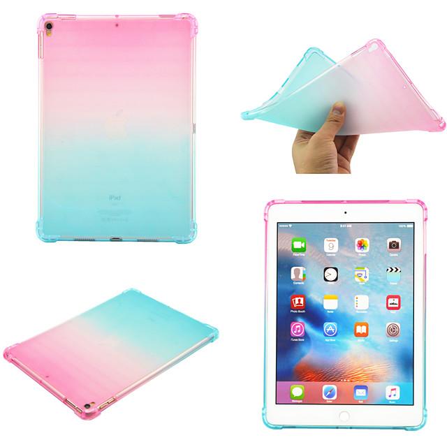 telefono Custodia Per Apple Per retro iPad 10.2''(2019) iPad Pro 10.5 iPad air3 10.5 '2019 Rotazione a 360° Resistente agli urti Colore graduale e sfumato TPU