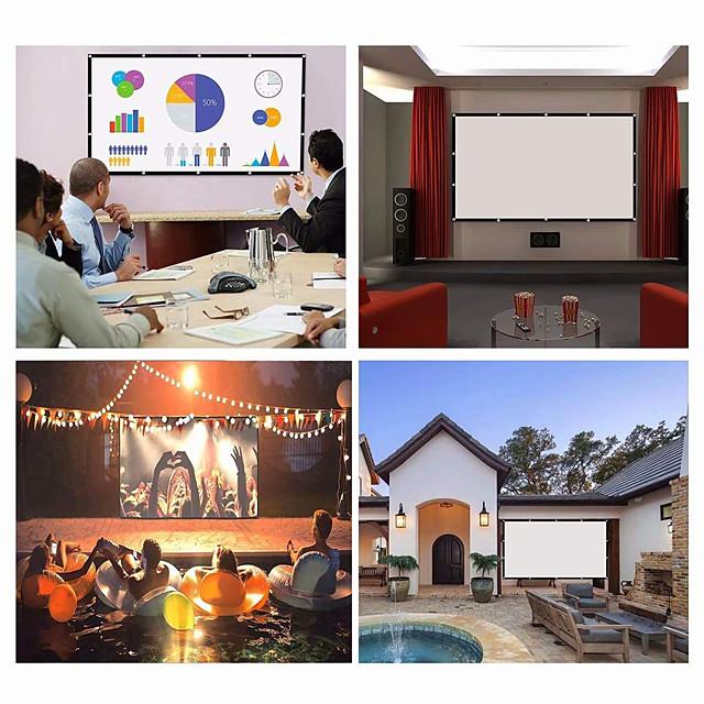écran de projection 16: 9 hd écran pliant portable maison extérieure ktv bureau écran de projection 3d pour cinéma maison (150