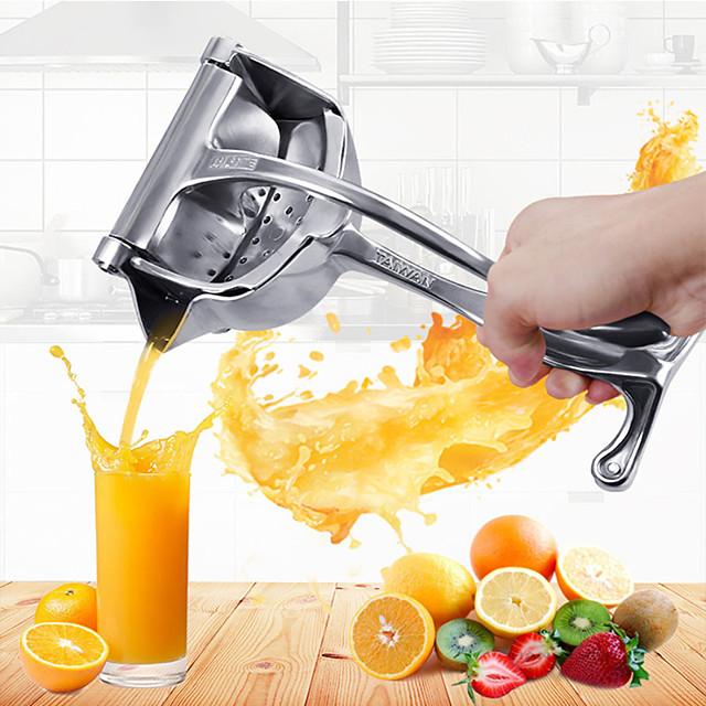 Presse-agrumes manuel en métal argenté presse-fruits jus citron orange presse ménage multifonctionnel cuisine fournitures de boissons