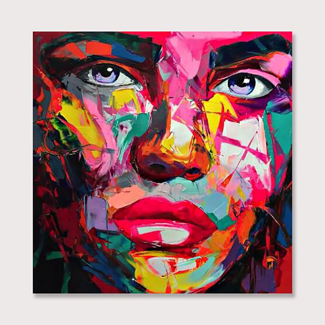 Palet bıçağı soyut insanlar yüz sanat resimleri tuval duvar sanatı modern ev oturma odası ofis dekor soyut resim