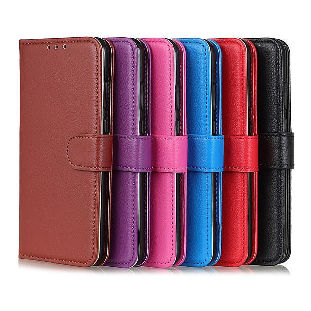 deksel til Samsung Galaxy S20 / S20 Plus / S20 Ultra / A91 / M80s kortholder støtsikker flip deksel i full kropp Ensfarget PU lær TPU