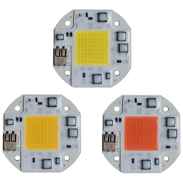 LED COBチップLEDライト110V 220V 20W 30W 50WウォームホワイトホワイトスマートIC溶接不要ドライバフラッドライトスポットライト用屋外SMDライトビーズDIY照明1個