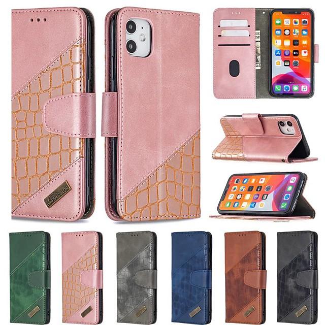 Fall für Apple iPhone Se 2020 iPhone 11 Pro iPhone 11 Pro Max XR XS Max 7 8 plus 6 6s plus Brieftasche Kartenhalter mit Ständer Ganzkörpertaschen einfarbiges PU-Leder