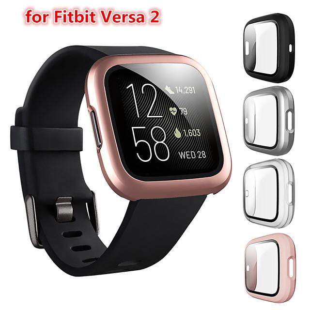 Custodie Per Fitbit fitbit versa 2 Plastica / Vetro temperato Proteggi Schermo Custodia per Smartwatch  Compatibilità
