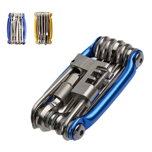 Outil Multifonction pour Vélo Multifonctionnel Portable Kit de réparation Pour Vélo de Route Vélo tout terrain / VTT Cyclisme Acier Bleu Dorée