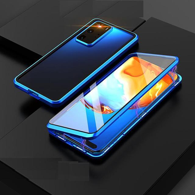 telefon Etui Til Samsung Galaxy Heldekkende etui Magnetisk adsorpsjonsveske S20 Plus S20 Ultra S20 Galaxy M31 Støvtett Gjennomsiktig Dobbeltsidet Gjennomsiktig Herdet glass Metall