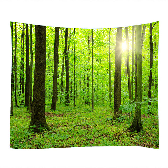 Big Trees And Small Trees Ushered In The Sun Classic Theme Wall Decor 100% Polyester Contemporary Wall Art Wall Tapestries Decoration