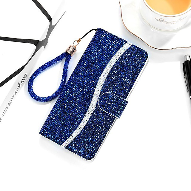 Case For Apple iPhone SE 2020 iPhone 11 Pro iPhone 11 Pro Max XR XS Max X 7 8 Plus 6 6s Plus Wallet  Card Holder with Stand Full Body Cases Glitter Shine PU Leather