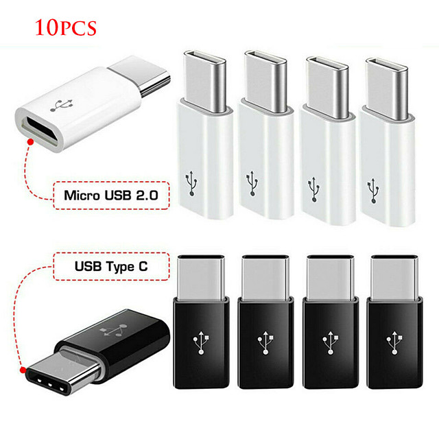 10pcs android micro usb adapter USB to male type-c connector adapter micro-b to usb-c connector καλώδιο φόρτισης