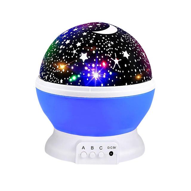 Ciel projecteur étoile lune galaxie veilleuse pour enfants enfants chambre décor projecteur rotatif pépinière veilleuse led bébé lampe cadeaux