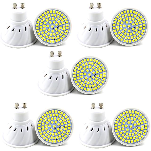 10kpl 6kpl 5 W LED-kohdevalaisimet 400 lm GU10 GU5.3 80 LED-helmet SMD 2835 Koristeltu Joulun hääkoristelu Lämmin valkoinen Kylmä valkoinen 220-240 V