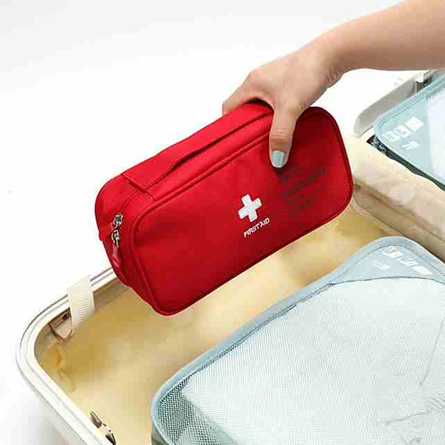 Travel Luggage Organizer / Packing Organizer / Travel Pill Box / Case / First Aid Kit Polyester Portable / Dust Proof / Travel Accessories for Emergency Solid Color