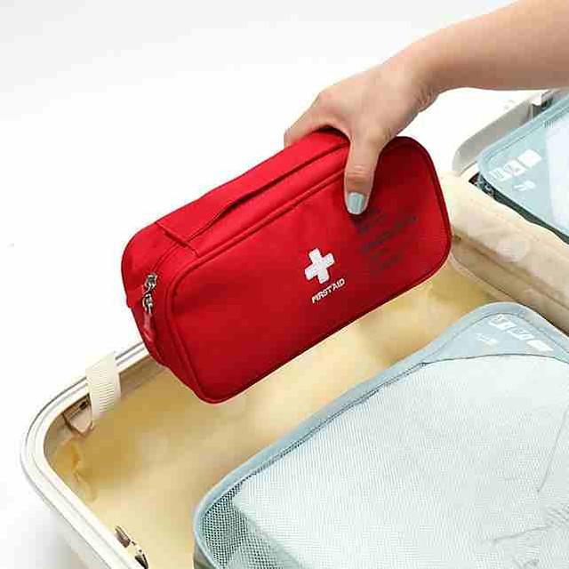 Rejsebagageorganisator / Pilleboks / etui til rejsebrug / Førstehjælpssæt polyester Bærbar / Støv-sikker / Rejsenødhjælp Helfarve