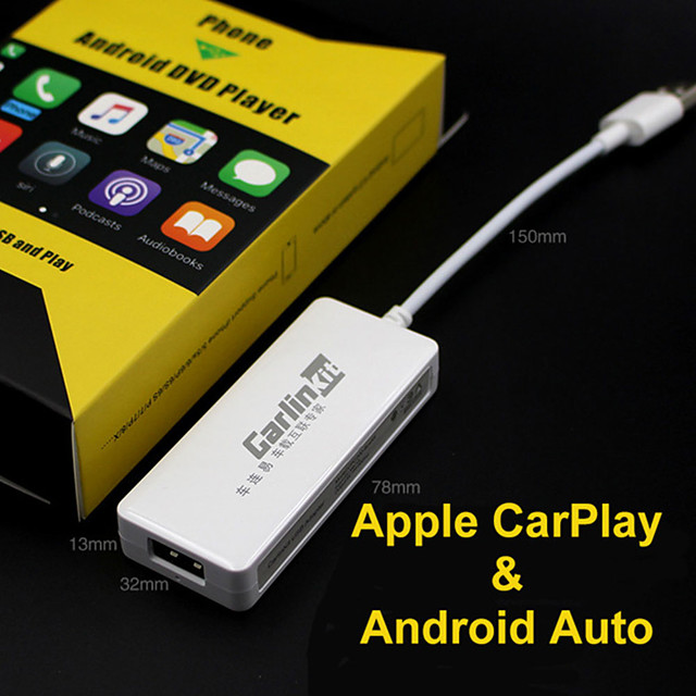 carplay smart link wired usb carplay dongle for android ios phone car mini usb carplay stick with android auto plug and play with set up video