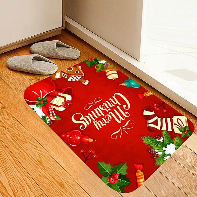 kerst deurmat cadeau digitale drukmat bloemen kitten meisje moderne badmatten non-woven / memory foam nieuwigheid badkamer
