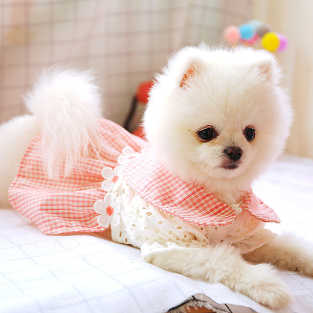 Koirat Hameet Prinsessa Kukka Juhla söpö tyyli Joulu Party Koiran vaatteet Pentu Vaatteet Koiran asut Hengittävä Pinkki Asu yrityksestä Girl and Boy Dog Polyesteria XS S M L XL