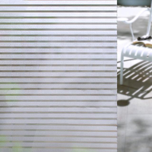 مت / معاصر 100 cm 45 cm ملصق النافذة / بدون لمعة غرفة المعيشة / غرفة حمام / شوب / مقهى PVC