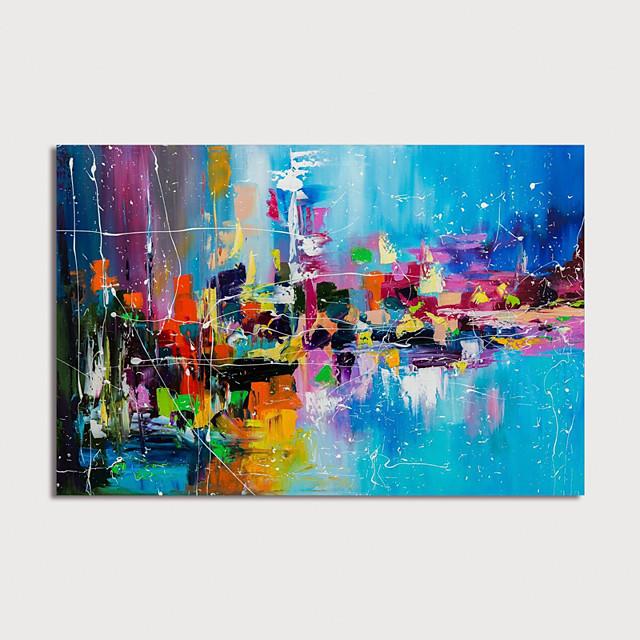 handmålad abstrakt målning duk konst målning abstrakt akrylmålning modern konst texturerad konst med bår redo att hänga med sträckt ram
