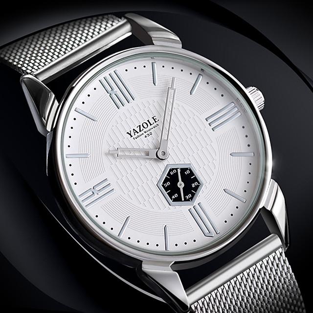 สำหรับผู้ชาย นาฬิกาตกแต่งข้อมือ นาฬิกาอิเล็กทรอนิกส์ (Quartz) สไตล์ ไม่เป็นทางการ Altimeter ระบบอนาล็อก ขาว สีดำ / หนึ่งปี / ไทเทเนี่ยมอัลลอย