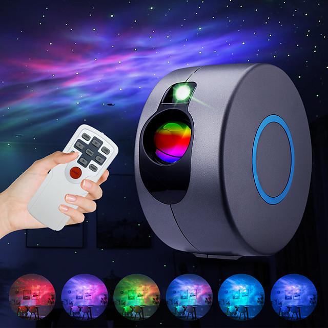 projecteur d'étoile laser galaxie projecteur de ciel étoilé LED veilleuse avec projecteur d'étoile de nuit à distance avec 15 modes d'éclairage pour la décoration de chambre et de fête