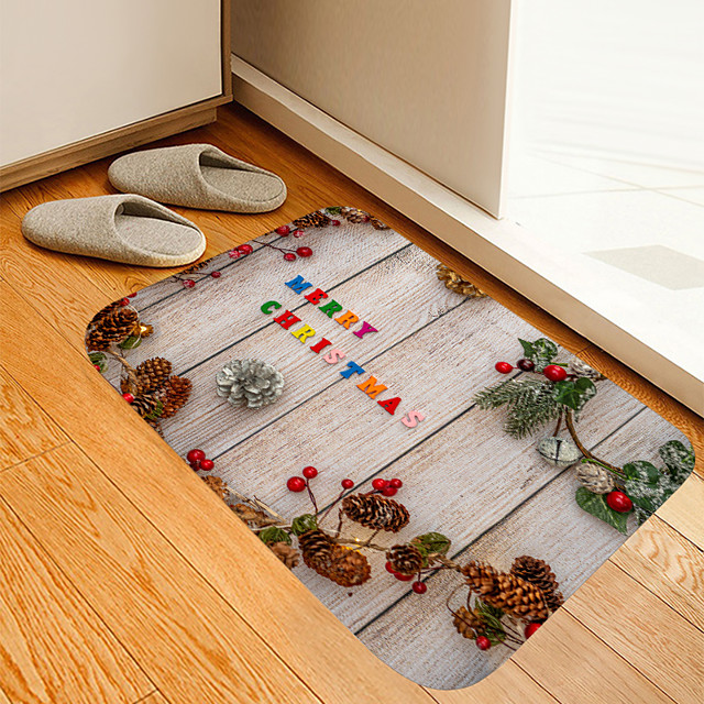 dennenappel board digitale print mat bloemen kitten meisje moderne badmatten non-woven / memory foam nieuwigheid badkamer