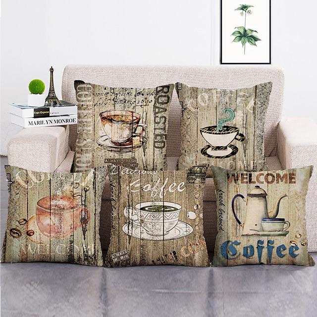 5 yastık örtüsü seti dekoratif baskılı yastık kapakları 45 * 45 yastık kılıfı kanepe yastıkları polyester yastık örtüleri