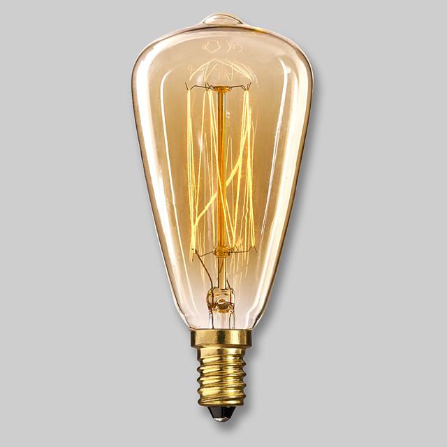 1 pc 40 W E14 ST48 Blanc Chaud 2300 k Ampoule à incandescence Vintage Edison 220-240 V