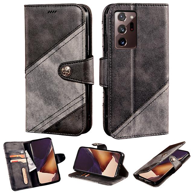 cas pour samsung galaxy galaxy a10s a20s a30s 10e 20e portefeuille porte-cartes étuis complets en cuir pu de couleur unie