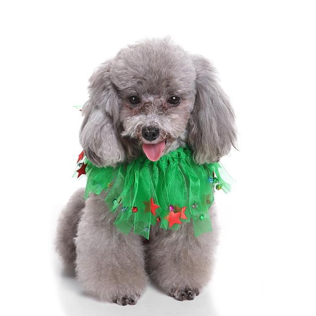 Câini Costume de Halloween Bandane & Căciuli Stele Casul / Zilnic Cute Stil Crăciun Petrecere Îmbrăcăminte Câini Haine pentru catelus Ținute pentru câini Respirabil Verde Costume pentru fată și câine