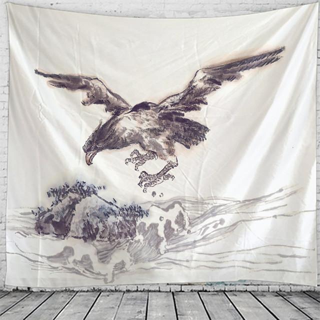 Chinese schilderkunst zeearend tapijt muur opknoping wandtapijten muur deken muur kunst muur decor landschapsschilderkunst tapijt muur decor