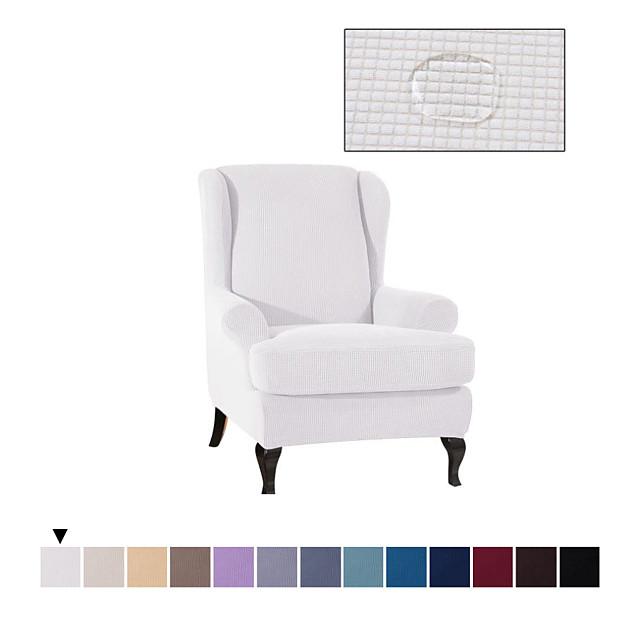 housse de chaise à oreilles en microfibre extensible 1 pièce facile à vivre - Spandex housse de canapé imperméable souple et imperméable, protecteur de meuble lavable avec fond élastique pour