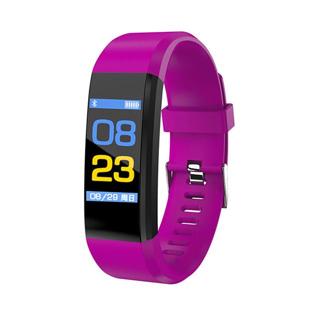 남성용 스포츠 시계 밀리터리 시계 스마트 시계 디지털 참 방수 디지털 블랙 퍼플 레드 / 실리콘 / 알람 / 슬라이드 규정 / 온도계 / 리모콘