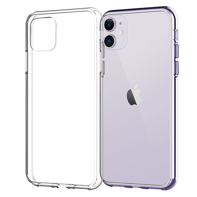 Case For Apple iPhone 12 / iPhone 11 / iPhone 12 Pro Max Transparent Back Cover Transparent TPU