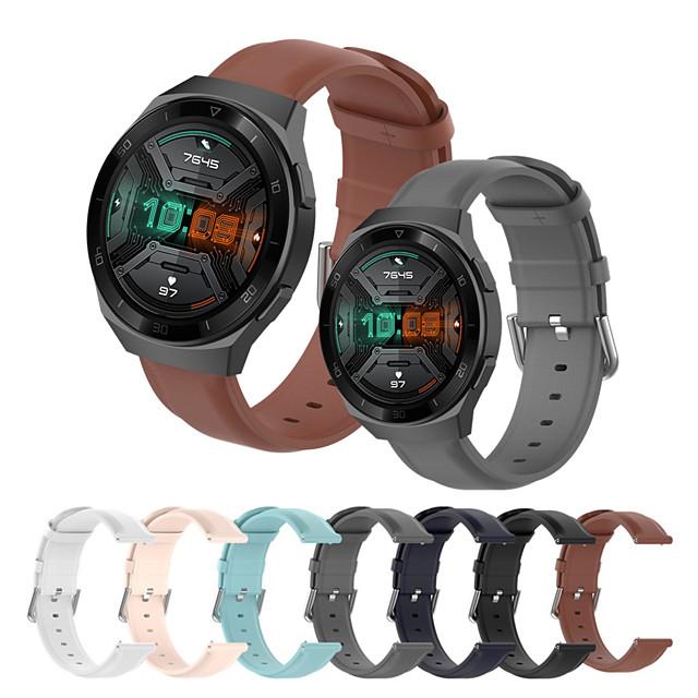 мягкий кожаный ремешок для часов для часов huawei gt 2e / gt2 46 мм / gt2 42 мм / honor magic watch 2 46 мм 42 мм / gt active / watch 2 / watch 2 pro сменный браслет ремешок на запястье браслет