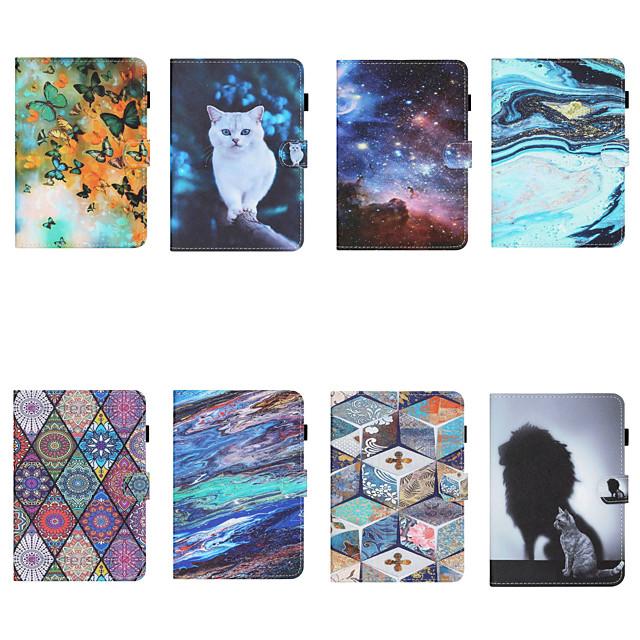 telefono Custodia Per Samsung Galaxy Integrale Tab S6 Lite (SM-P610 / 615) Porta-carte di credito Resistente agli urti Fantasia / disegno Animali pelle sintetica TPU