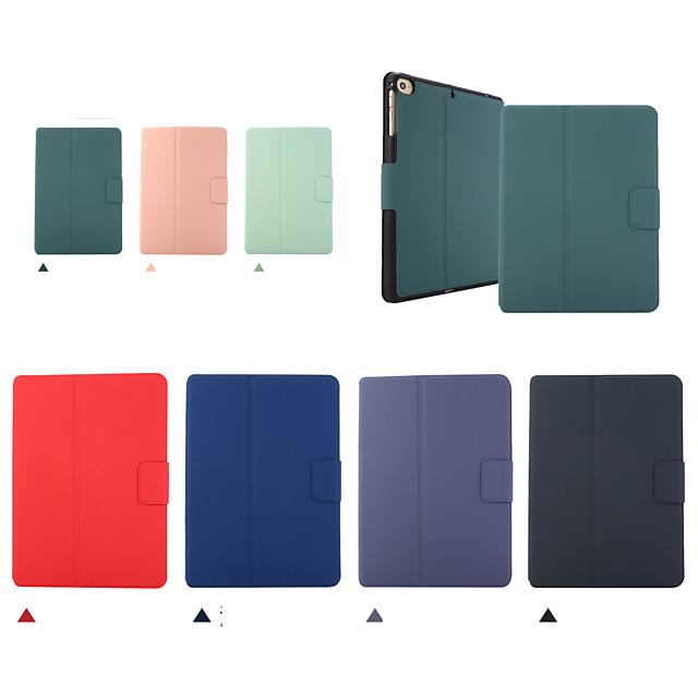 téléphone Coque Pour Apple Coque Intégrale iPad Mini 3/2/1 iPad Mini 4 iPad Mini 5 Clapet Mise en veille automatique Couleur Pleine faux cuir TPU