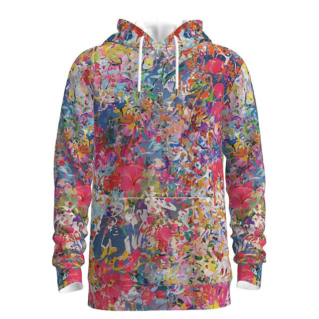 Voor heren Sweatshirt met capuchon Grafisch Tie Dye Capuchon Dagelijks 3D-afdrukken Basic Hoodies Sweatshirts Regenboog