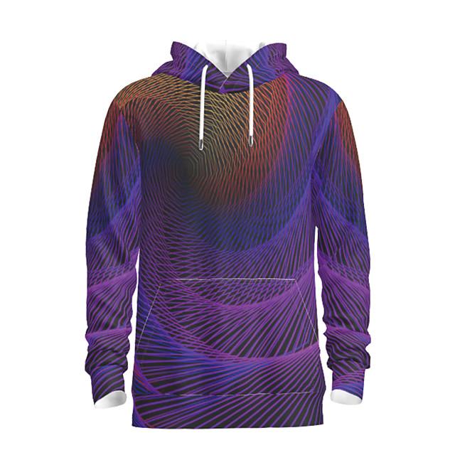 Voor heren Dagelijks Sweatshirt met capuchon Abstract Grafisch Capuchon Basic Hoodies Sweatshirts blauw