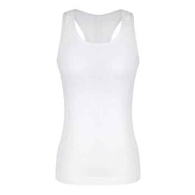 yoga tops voor dames leuke workout tank tops activerwear racerback lasergesneden tanktop met sportshirt wit