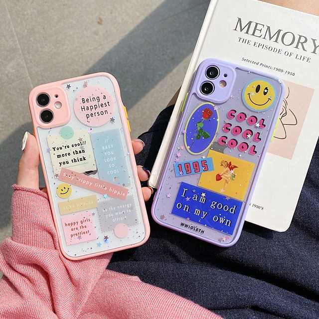 case for apple iphone 7 plus 8 plus xr xs xs max x se 11 11pro 11promax pattern back cover tpu animal word phrase