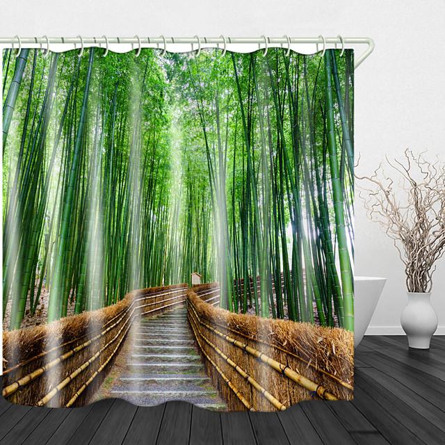 bamboe bospad douchegordijnen& haken modern polyester nieuw ontwerp