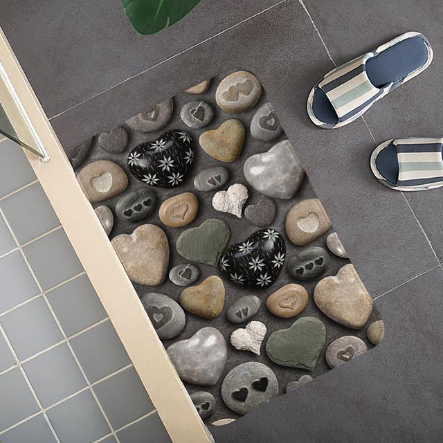 Creatieve 3d printing kleurrijke kiezels veld hal tapijt en tapijten voor slaapkamer woonkamer tapijt keuken badkamer antislip vloermatten