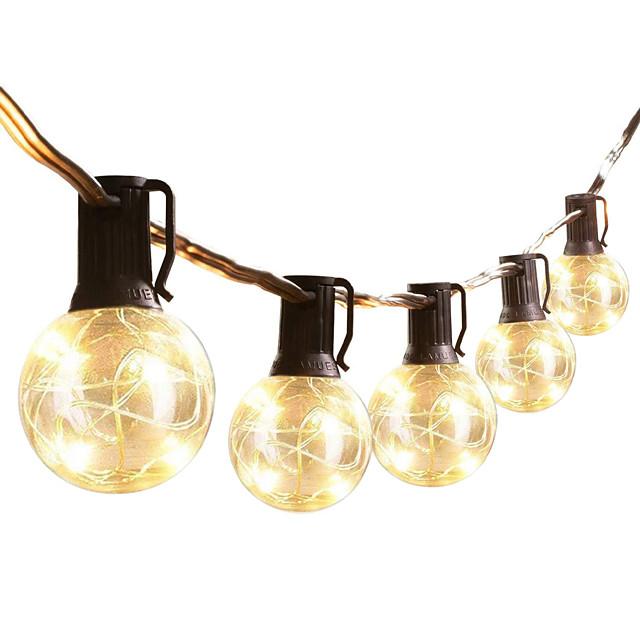guirlandes led extérieures imperméables 8.4m 27.5ft ampoules g40 25 guirlandes de patio leds guirlande lumineuse ce standard chaud intérieur extérieur guirlande lumineuse pour jardin bistro café
