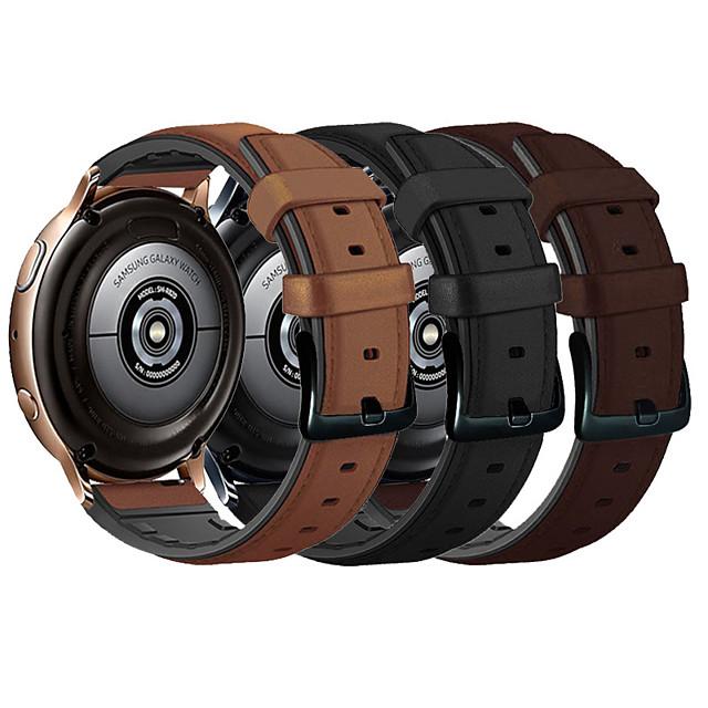 Ремешок для часов для Samsung Galaxy Watch 42 / Samsung Galaxy Active Samsung Galaxy Кожаный ремешок Стеганная ПУ кожа Повязка на запястье