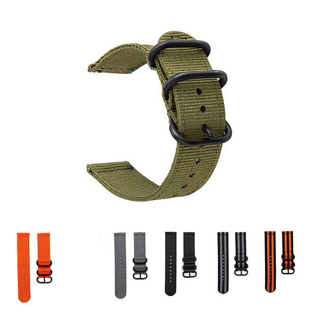 22 мм модный ремешок для часов нейлоновый ремешок черный 3 кольца пряжка для huawei gt2e / gt / gt 2 46 мм / watch2 pro / honor magicwatch 2 46 мм / honor magic современная пряжка нейлоновый ремешок