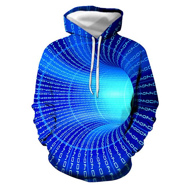 Voor heren Trui met capuchon Grafisch Dagelijks Uitgaan Informeel Hoodies Sweatshirts blauw Paars Rood