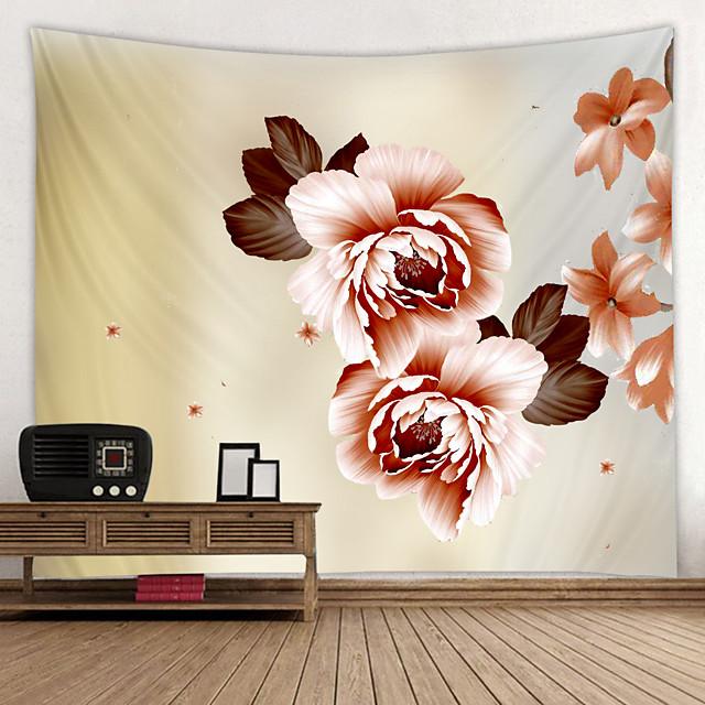 geschilderde grote bloemen digitaal gedrukt tapijt decor kunst aan de muur tafelkleden sprei picknick deken strand gooi wandtapijten kleurrijk slaapkamer hal slaapzaal woonkamer opknoping